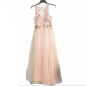 MY MICHELLE| Pink Floral Embroidered Prom Dress 9